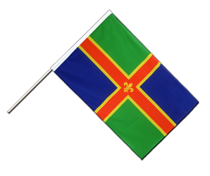 Lincolnshire Hand Waving Flag ECO 2x3 ft