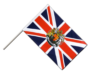 Great Britain with crest Hand Waving Flag ECO 2x3 ft