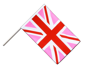 Union Jack pink - Hand Waving Flag ECO 2x3 ft