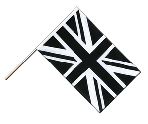 Union Jack black - Hand Waving Flag ECO 2x3 ft
