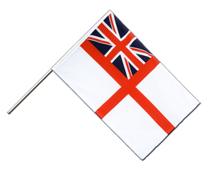 Naval Ensign of the White Squadron Hand Waving Flag ECO 2x3 ft
