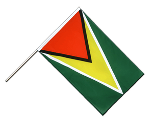 Guyana - Hand Waving Flag ECO 2x3 ft