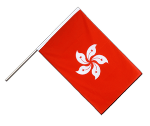 Hong Kong - Hand Waving Flag ECO 2x3 ft