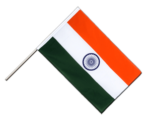 India - Hand Waving Flag ECO 2x3 ft