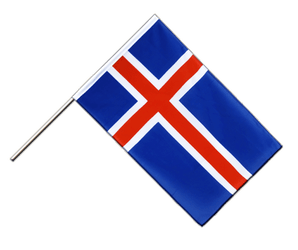 Iceland - Hand Waving Flag ECO 2x3 ft