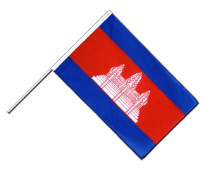 Cambodia Hand Waving Flag ECO 2x3 ft