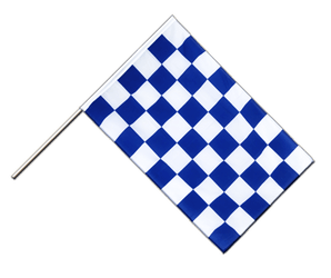 Checkered blue-white - Hand Waving Flag ECO 2x3 ft