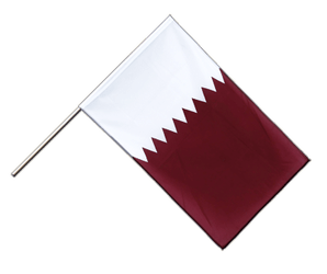 Qatar - Hand Waving Flag ECO 2x3 ft