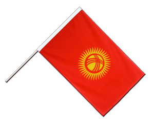 Kyrgyzstan Hand Waving Flag ECO 2x3 ft