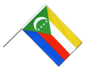 Comoros Hand Waving Flag ECO 2x3 ft