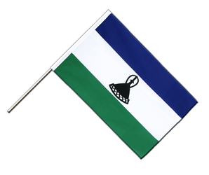Lesotho new Hand Waving Flag ECO 2x3 ft