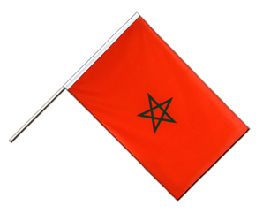 Morocco Hand Waving Flag ECO 2x3 ft