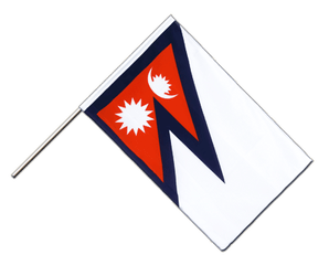 Nepal Hand Waving Flag ECO 2x3 ft