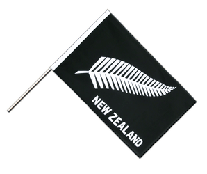 New Zealand feather all blacks - Hand Waving Flag ECO 2x3 ft