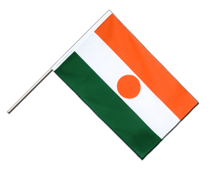Niger Hand Waving Flag ECO 2x3 ft