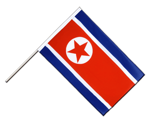 North corea - Hand Waving Flag ECO 2x3 ft