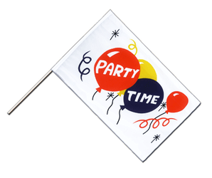 Party Time Stockflagge ECO 60 x 90 cm