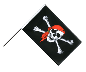 Pirate with bandana - Hand Waving Flag ECO 2x3 ft