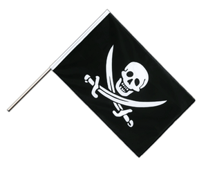 Pirate with two swords - Hand Waving Flag ECO 2x3 ft