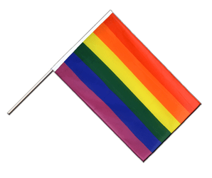 Rainbow - Hand Waving Flag ECO 2x3 ft