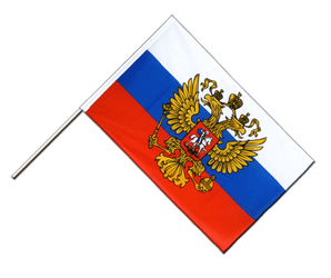 Russia with crest Hand Waving Flag ECO 2x3 ft