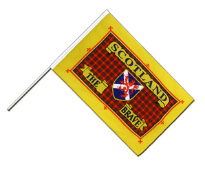 Schottland Scotland The Brave - Stockflagge ECO 60 x 90 cm