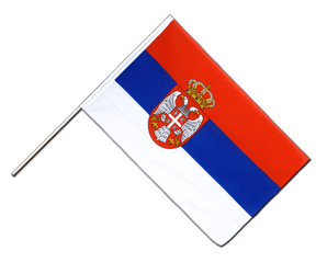 Serbia with crest Hand Waving Flag ECO 2x3 ft