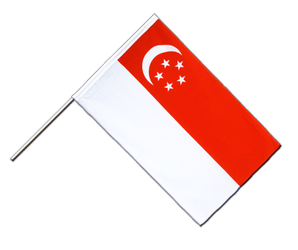 Singapore - Hand Waving Flag ECO 2x3 ft