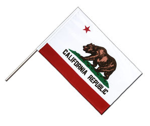 California Hand Waving Flag ECO 2x3 ft