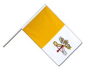 Vatican Hand Waving Flag ECO 2x3 ft