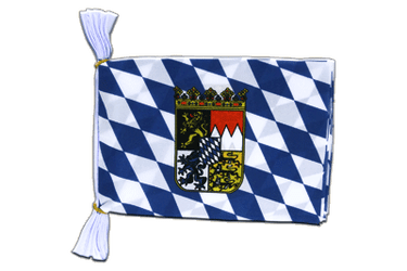 "Bavaria with crest Flag Bunting 6x9"", 3 m"