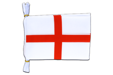 "England St. George Flag Bunting 6x9"", 3 m"