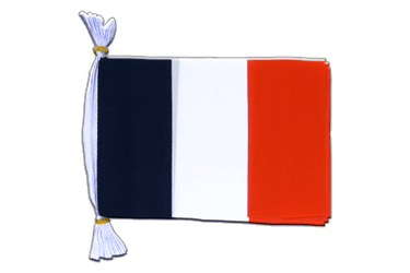 France Mini Guirlande fanion 15 x 22 cm, 3 m