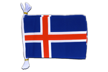 "Iceland Flag Bunting 6x9"", 3 m"
