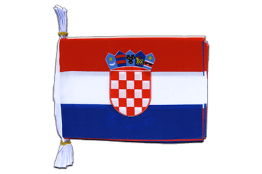 "Croatia - Mini Flag Bunting 6x9"", 3 m"