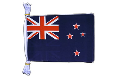 "New Zealand - Mini Flag Bunting 6x9"", 3 m"
