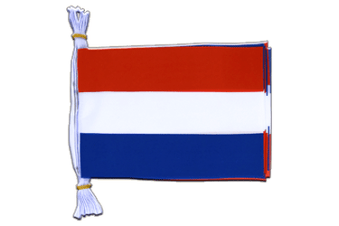 "Netherlands Mini Flag Bunting 6x9"", 3 m"
