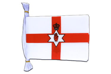"Northern Ireland Mini Flag Bunting 6x9"", 3 m"