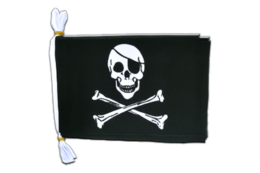 "Pirate Skull and Bones Mini Flag Bunting 6x9"", 3 m"