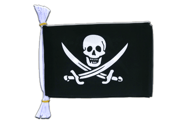 "Pirate with two swords - Mini Flag Bunting 6x9"", 3 m"
