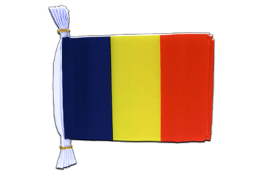 "Rumania - Mini Flag Bunting 6x9"", 3 m"