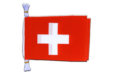 "Switzerland Flag Bunting 6x9"", 3 m"