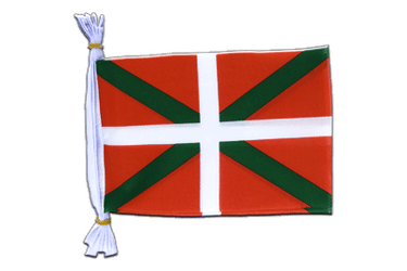 "Basque country Flag Bunting 6x9"", 3 m"