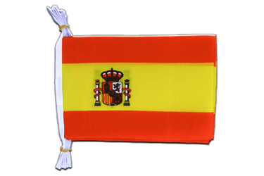 "Spain with crest Mini Flag Bunting 6x9"", 3 m"