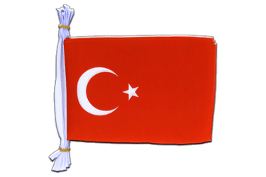 "Turkey Flag Bunting 6x9"", 3 m"