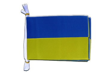 "Ukraine - Mini Flag Bunting 6x9"", 3 m"
