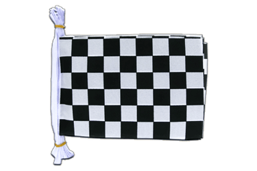 "Checkered Flag Bunting 6x9"", 3 m"