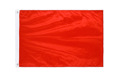 Pavillon Unicolore Rouge Oeillets PRO 60 x 90 cm