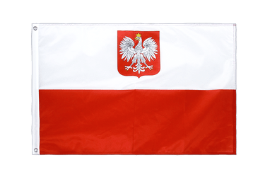 Poland with eagle - Grommet Flag PRO 2x3 ft
