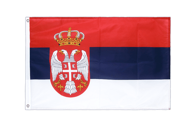 Serbia with crest Grommet Flag PRO 2x3 ft